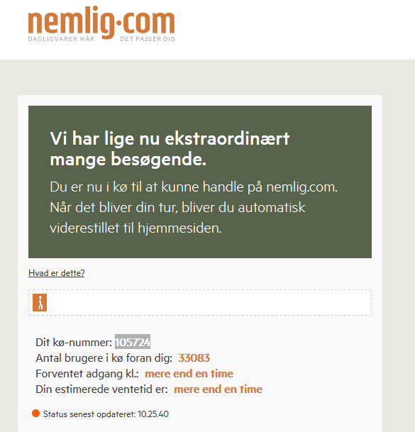nemlig.com kø - hidden agency